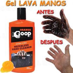 GOOP, Gel lava manos naranja con micro partículas. 3,7 Litros. Incluye dosificador