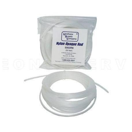 Varilla electrodo de nylon translucido, 15 varillas en rollo de 4,5 m