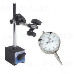 Reloj comparador con base imantada