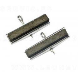Piedras de repuesto de grano medio 220 para bruñidor de cilindros de 2 brazos 9418