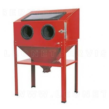 Cabina chorreadora  de arena con patas. 220 litros volumen interior