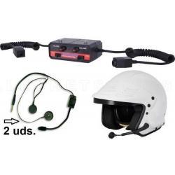 Intercomunicador terra profesional. Kit para 2 cascos jet + 1 centralita + reducción de ruidos Terratrip