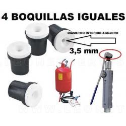 4 boquillas iguales de 3,5 mm