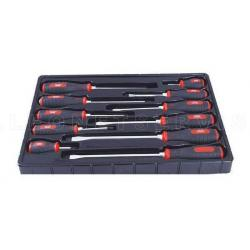 Juego destornilladores robustos de golpeo 11 piezas