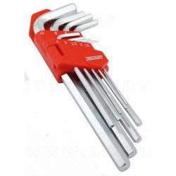 Juego de llaves allen, 9 piezas 1,5-10mm