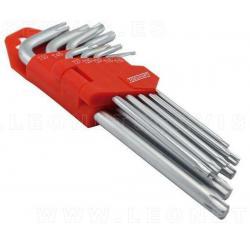 Juego de llaves torx, 9 piezas, T10 - T50