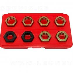 Reparador de roscas de ejes 8 piezas
