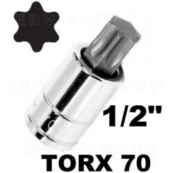"Vasos 1/2"" con punta torx 70"