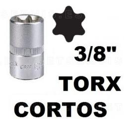"Vasos cortos 27 mm 3/8"", torx acero crv (50bv30)"
