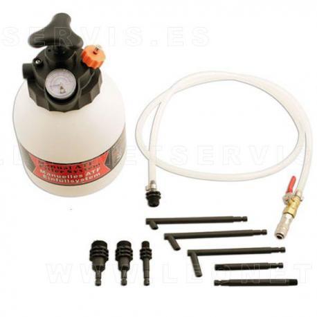Sistema de llenado de aceite de transmisiones + 8 adaptadores