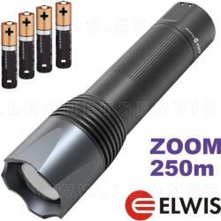 Linterna técnica y profesional de LED VAQS S1 PRO con zoom y 6 funciones