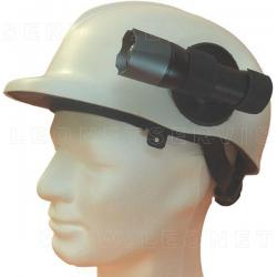 Soporte giratorio con velcro para sujetar las linternas de mano al casco