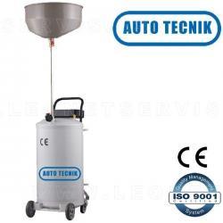 Recogedor y aspiradores de aceite usado, de 70 litros y con visor de metacrilato