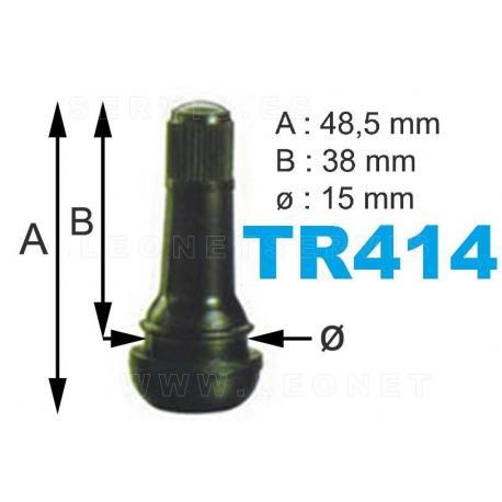 Válvulas TR-414 para neumáticos