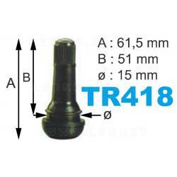 Válvulas TR-418  para neumáticos