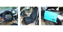 Protectores de asientos, volante y aletas